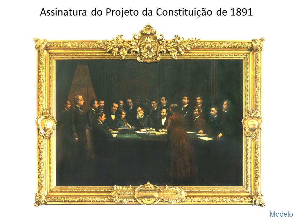 Assinatura do Projeto da Constituição de 1891 G. Hastoy Modelo