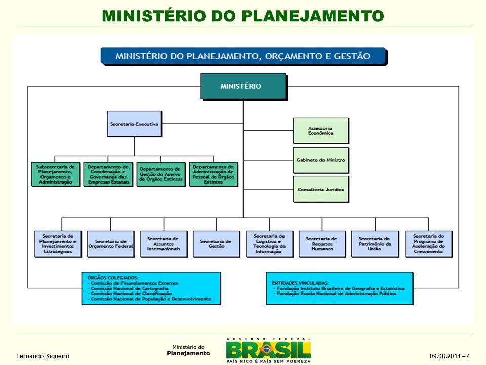 MINISTÉRIO DO PLANEJAMENTO 09.08.2011 – 45 Fernando Siqueira DSTI/SLTI/MP Brasília, 09.08.2011 Obrigado fernando.siqueira@planejamento.gov.br (61) 2020-1390
