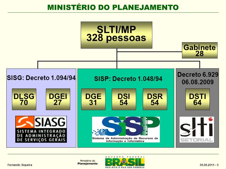 MINISTÉRIO DO PLANEJAMENTO 09.08.2011 – 16 Fernando Siqueira Desafios Criar um ambiente de computação em nuvem na APF Oferecer serviços G2G no âmbito do PNBL Desafios Criar um ambiente de computação em nuvem na APF Oferecer serviços G2G no âmbito do PNBL Computação em Nuvem Ações em andamento Regulamentação da atividade – estabelecer diretrizes, normas e procedimentos, sob a coordenação do MCT.