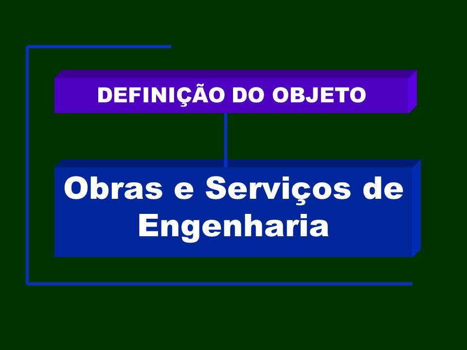Obras e Serviços de Engenharia DEFINIÇÃO DO OBJETO