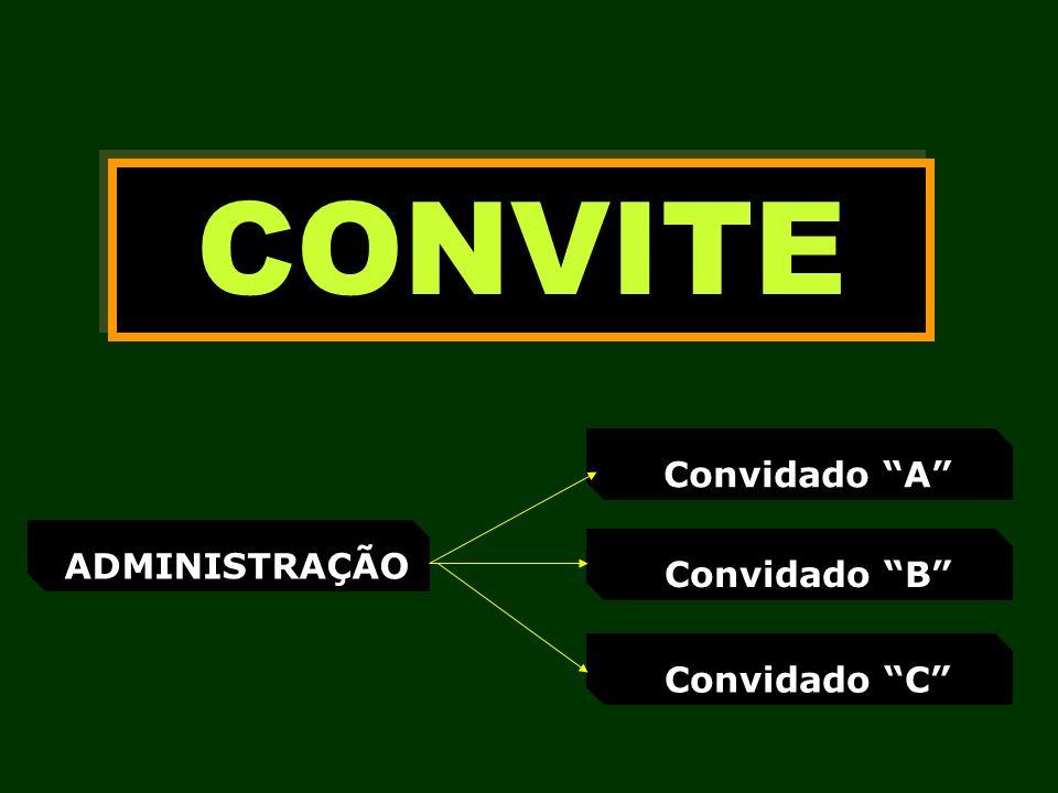 CONVITE ADMINISTRAÇÃO Convidado A Convidado B Convidado C