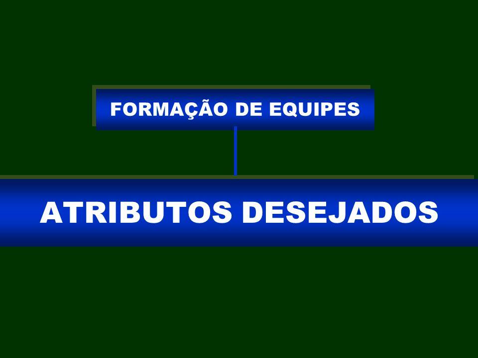 ATRIBUTOS DESEJADOS FORMAÇÃO DE EQUIPES