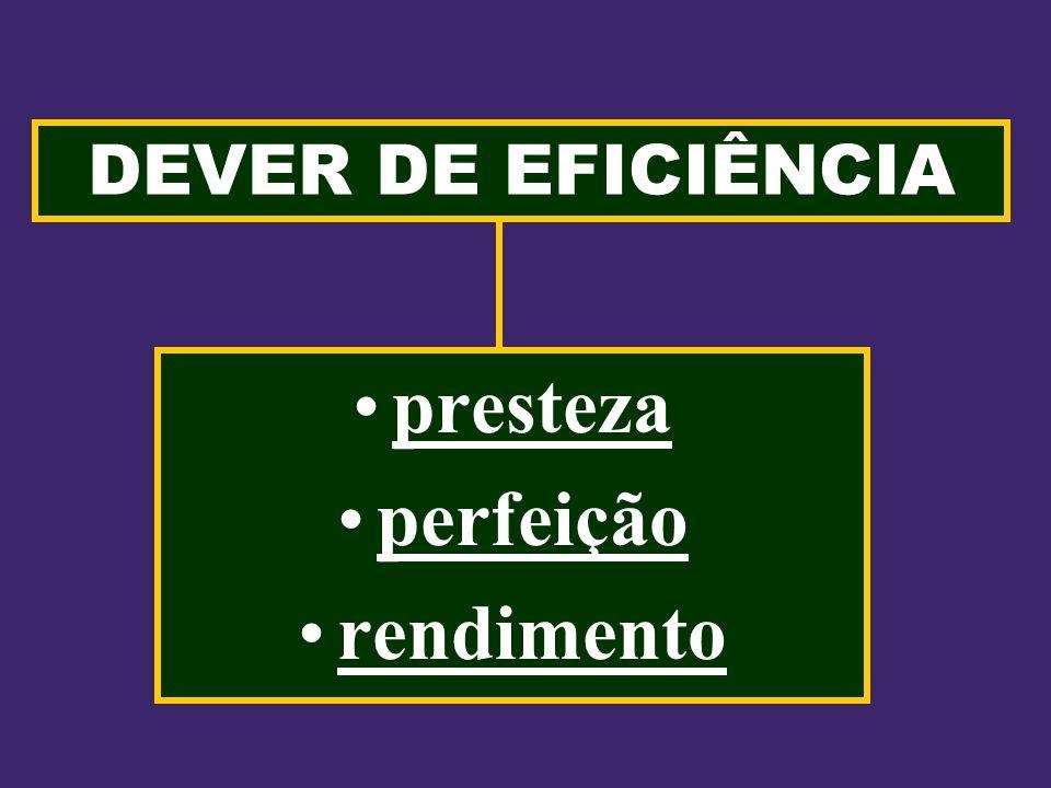 DEVER DE EFICIÊNCIA presteza perfeição rendimento