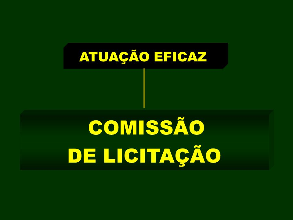 ATUAÇÃO EFICAZ COMISSÃO DE LICITAÇÃO