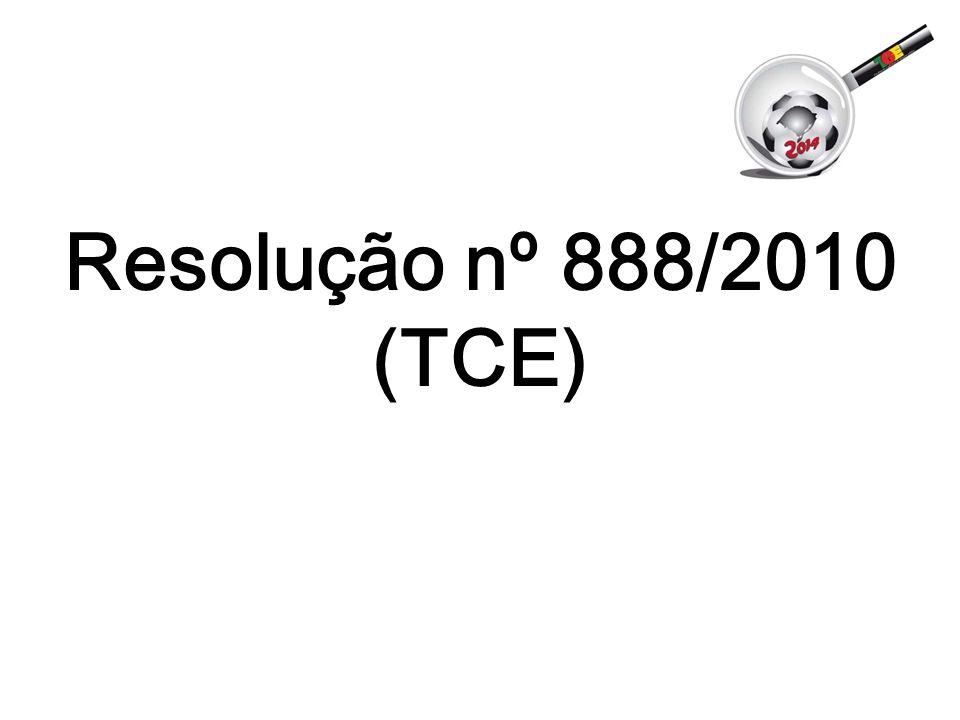 Resolução nº 888/2010 (TCE)