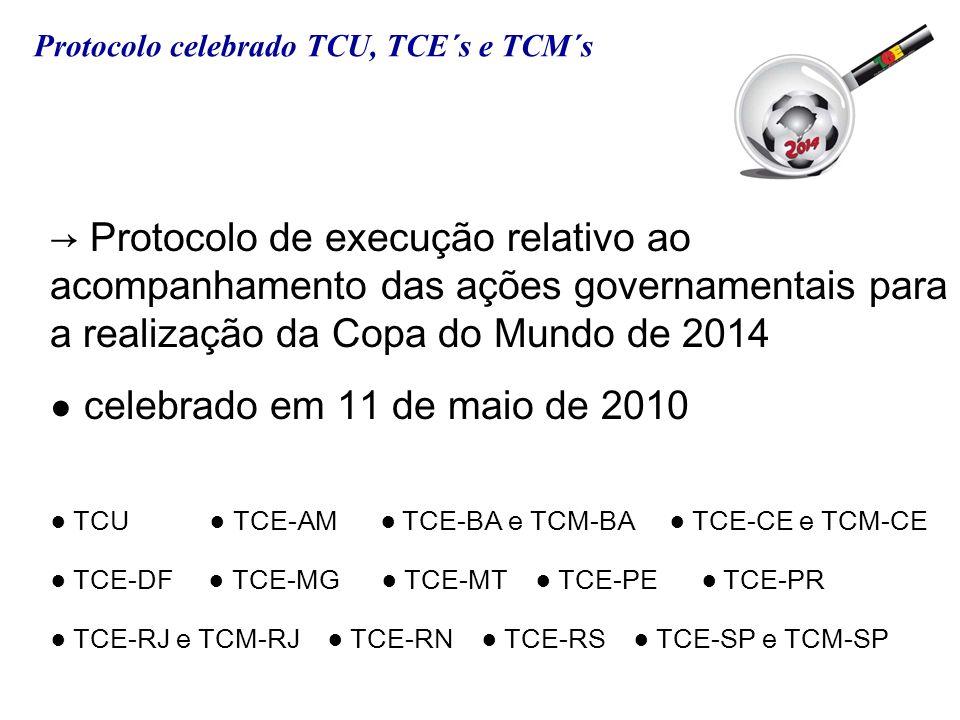 Protocolo de execução relativo ao acompanhamento das ações governamentais para a realização da Copa do Mundo de 2014 celebrado em 11 de maio de 2010 T