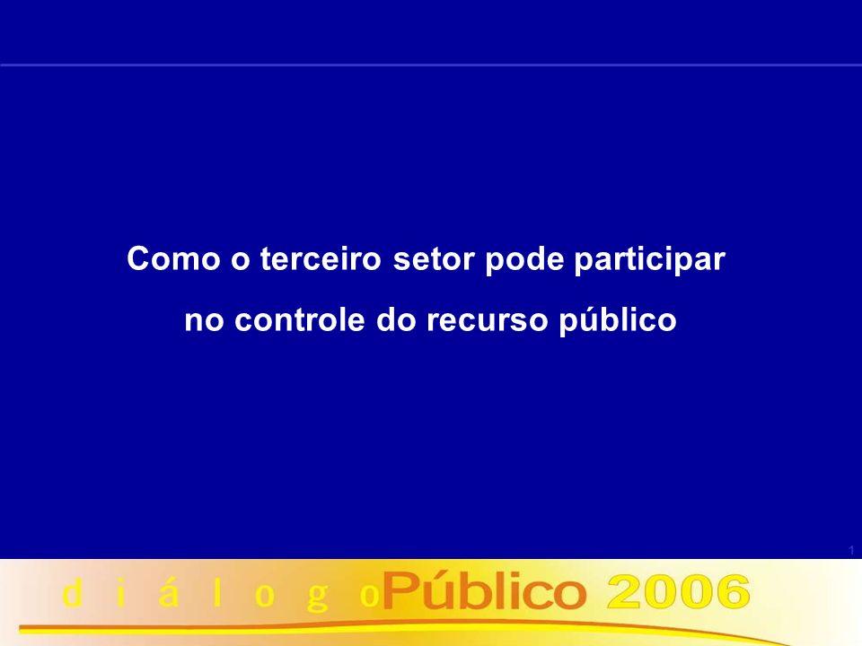 1 Como o terceiro setor pode participar no controle do recurso público