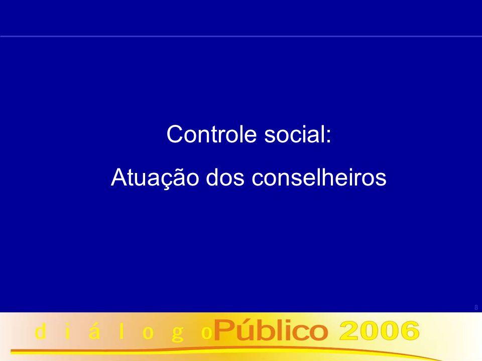 8 Controle social: Atuação dos conselheiros