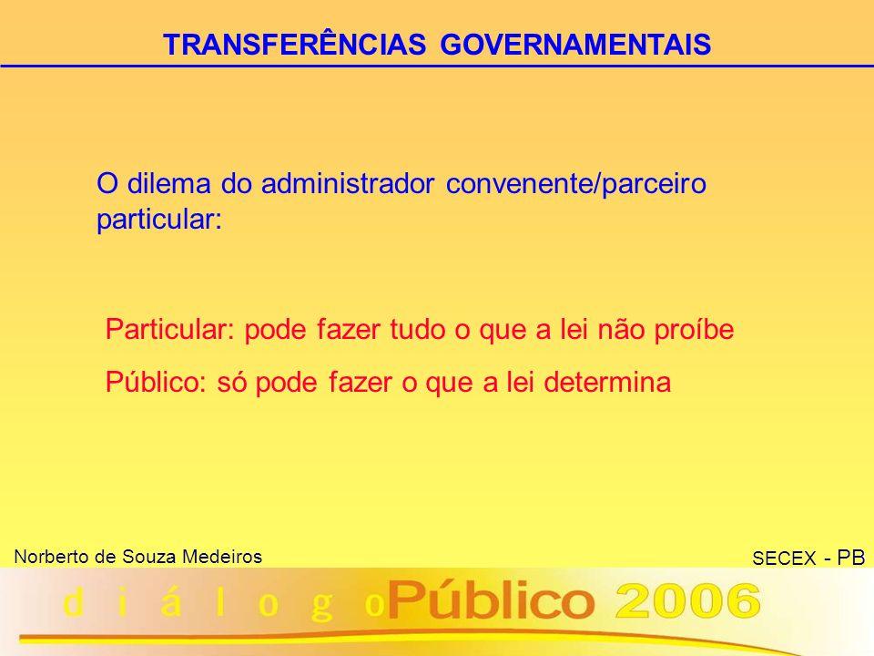 27 Norberto de Souza Medeiros SECEX - PB 1) Precedido de Consulta aos Conselhos de Políticas Públicas da área (caso não exista, dispensar) TERMO DE PARCERIA PARTICULARIDADES (CURIOSIDADES!): 2) Não se submetem aos ditames da Lei de Licitações e Contratos (8.666/93) - Acórdão nº 1.777/2005 - TCU - Plenário.