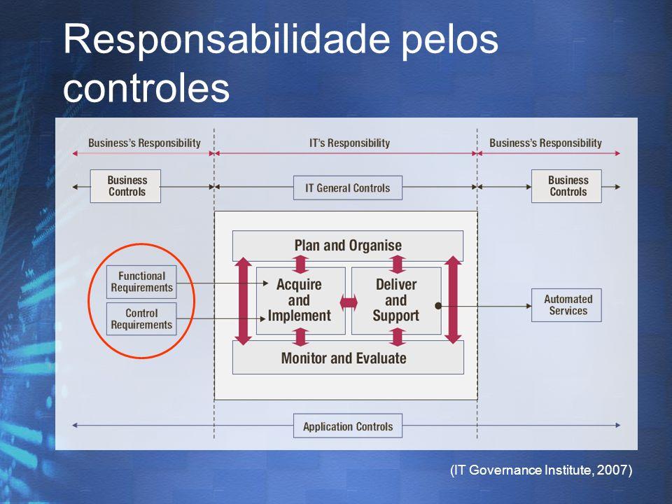 (IT Governance Institute, 2007) Responsabilidade pelos controles