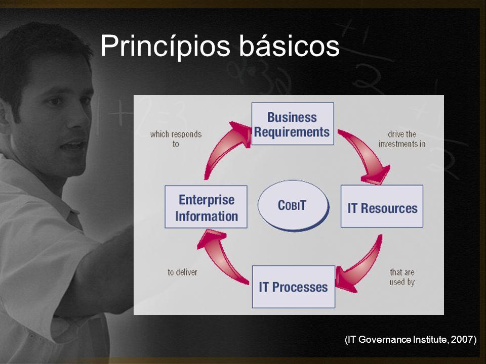 (IT Governance Institute, 2007) Princípios básicos