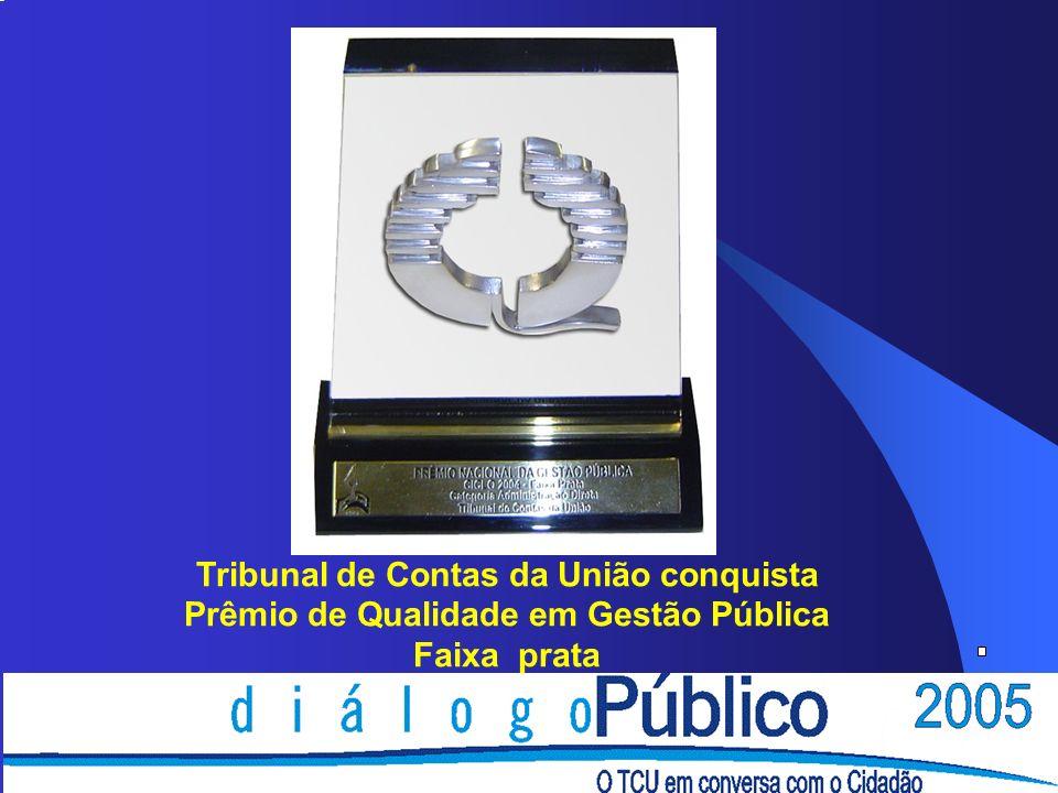 Tribunal de Contas da União conquista Prêmio de Qualidade em Gestão Pública Faixa prata