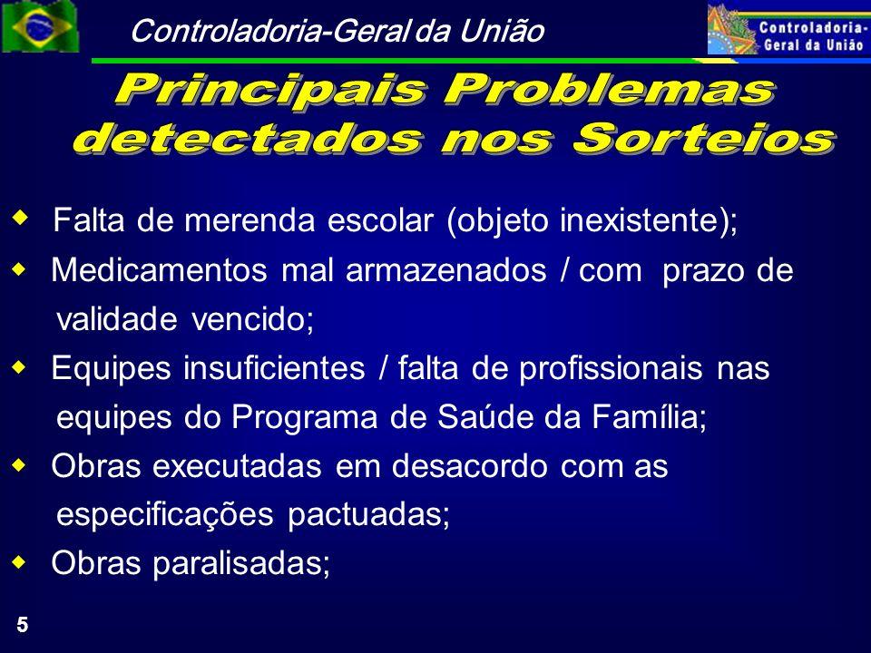 Controladoria-Geral da União 16 Orientação para a Implantação de Controle Interno em Estados e Municípios Roteiro de Orientação aos Prefeitos (em elaboração); Resultados da fiscalizações.