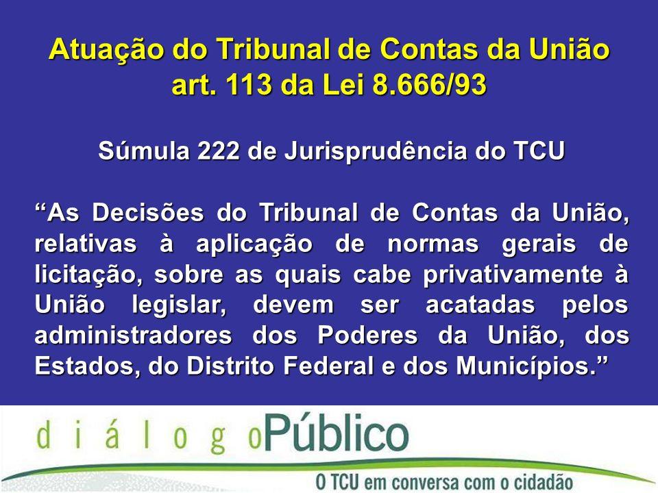 Atuação do Tribunal de Contas da União art.
