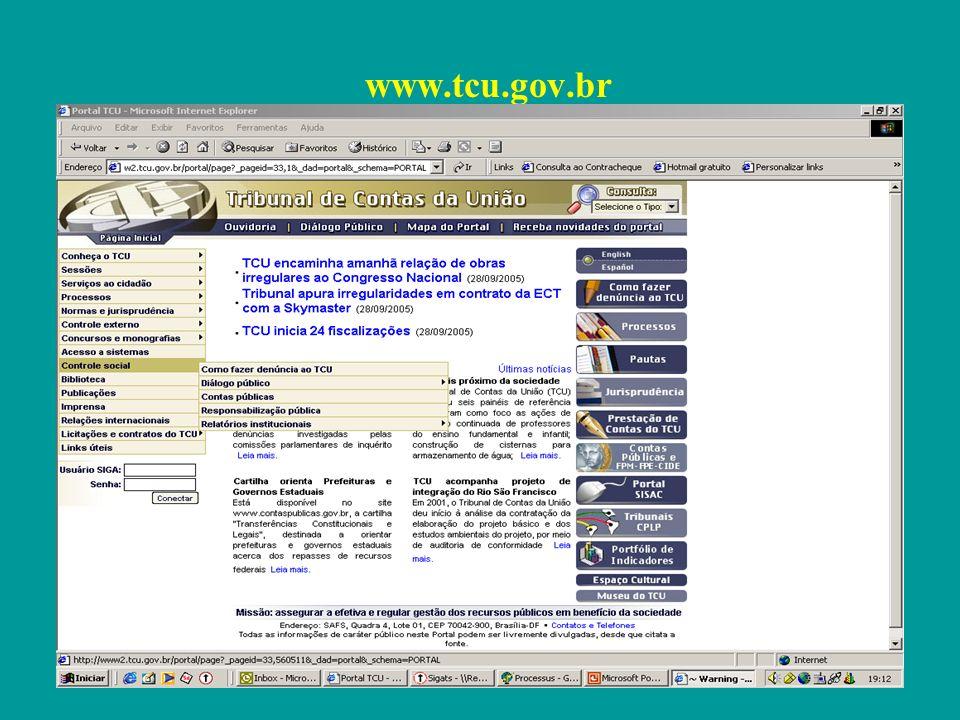 Fiscalização do PNAE 1999 –Auditoria de natureza operacional 2002 – Auditoria integrada