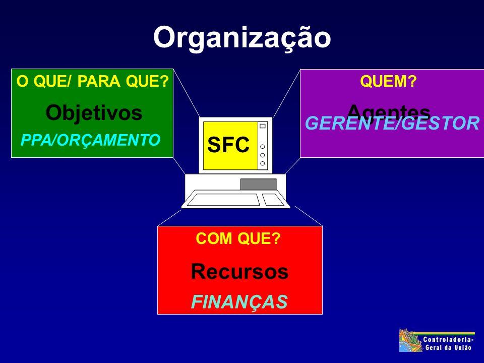 Organização Objetivos Agentes O QUE/ PARA QUE QUEM.