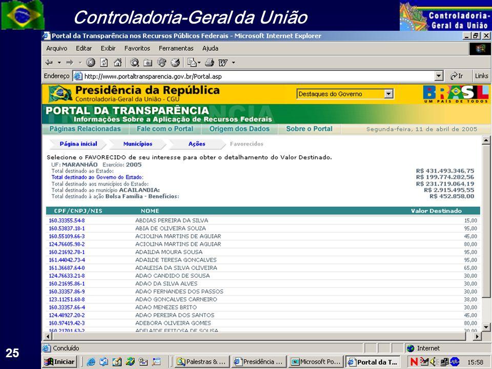 Controladoria-Geral da União 25