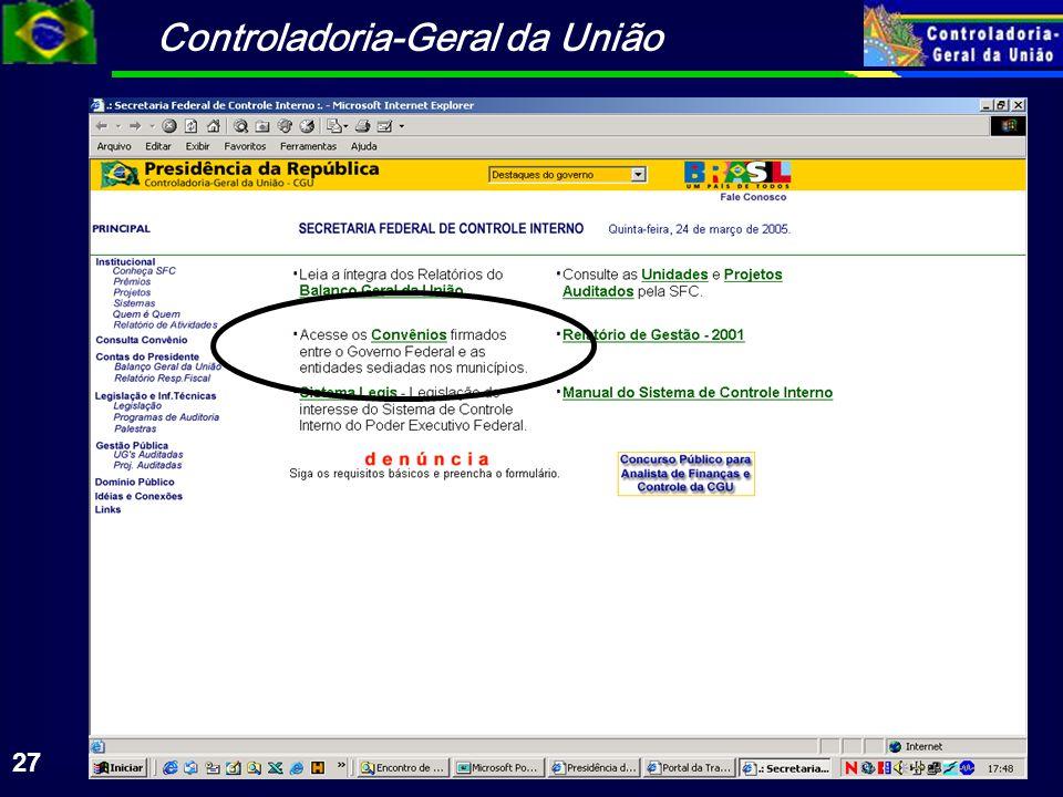 Controladoria-Geral da União 27