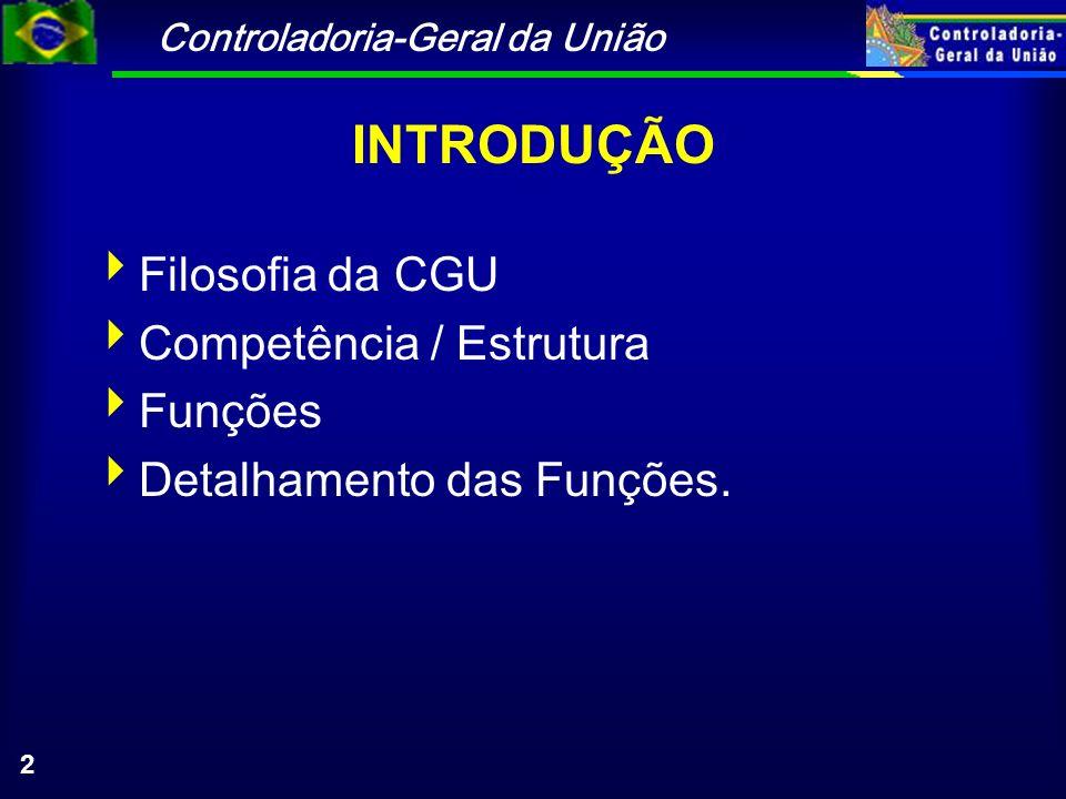 Controladoria-Geral da União 33 Ações Orientadoras: Detalhar as ações da CGU Geral e no Estado Capacitação de Agentes Municipais