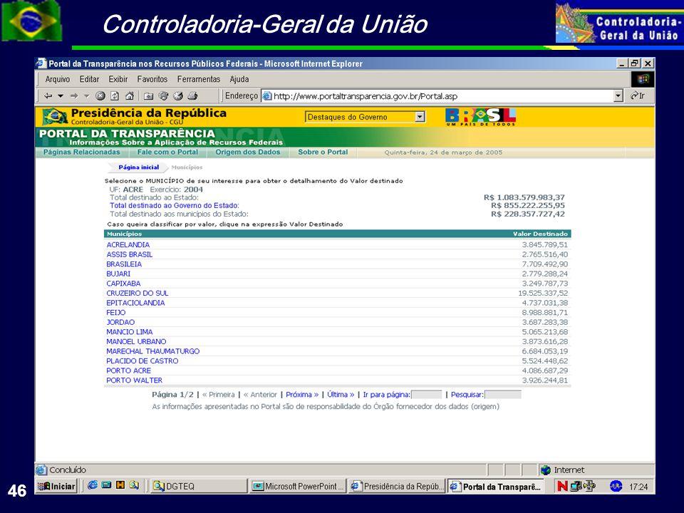 Controladoria-Geral da União 46