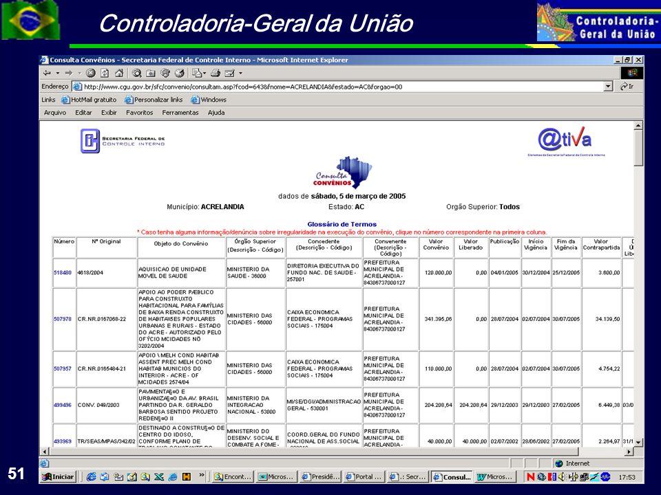 Controladoria-Geral da União 51