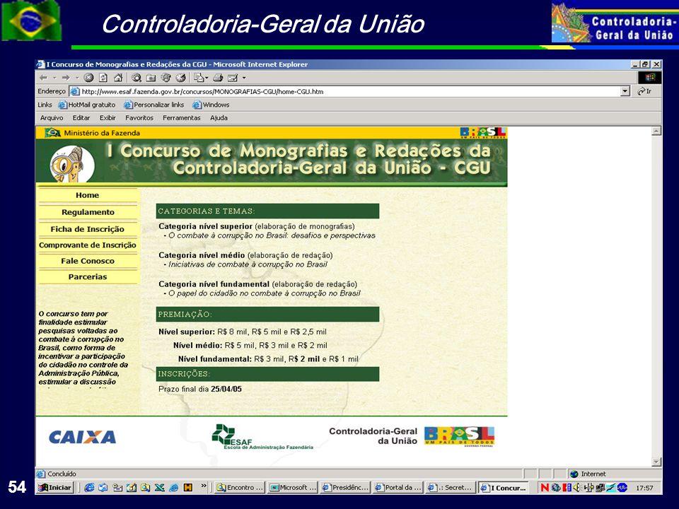 Controladoria-Geral da União 54