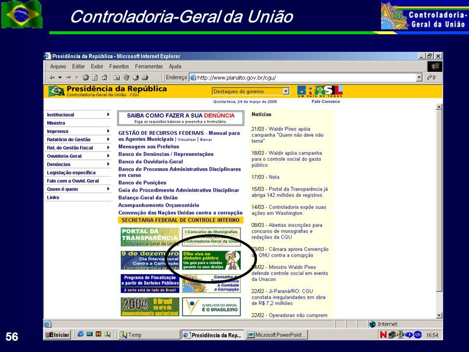 Controladoria-Geral da União 56