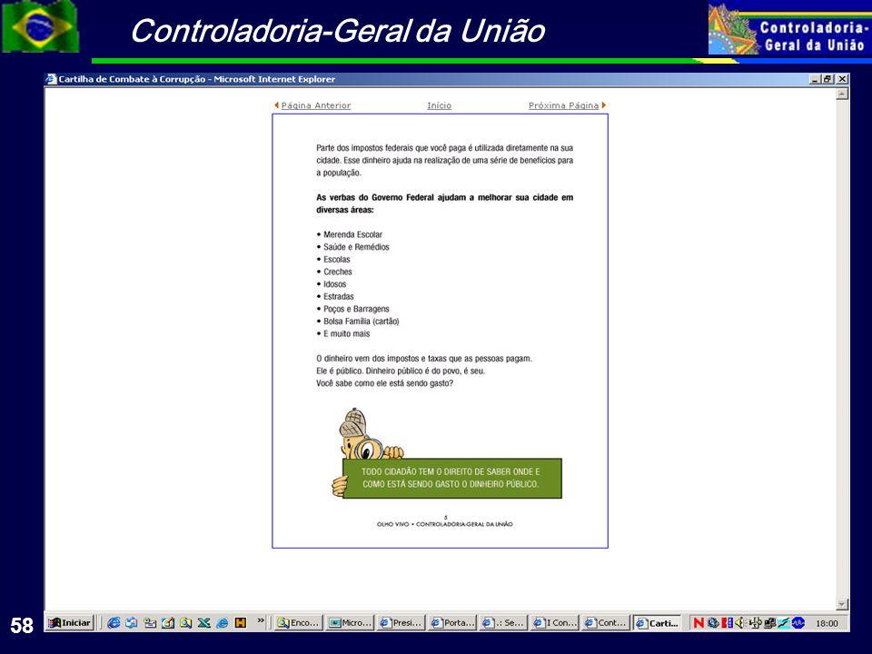 Controladoria-Geral da União 58