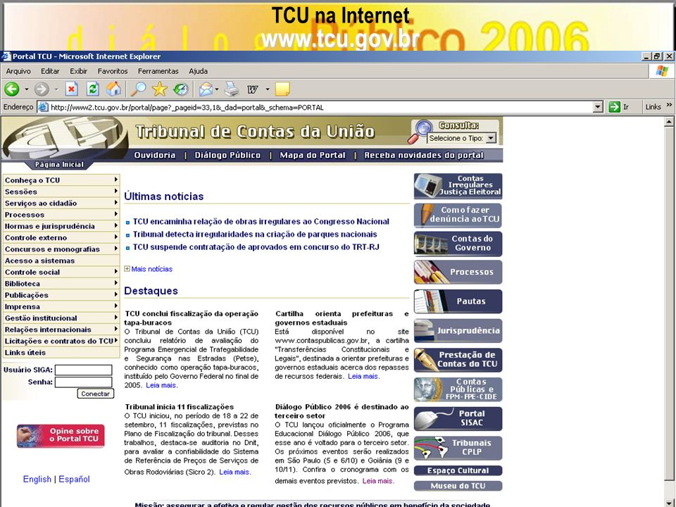 TCU na Internetwww.tcu.gov.br