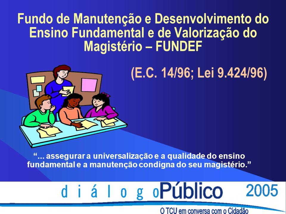 Fundo de Manutenção e Desenvolvimento do Ensino Fundamental e de Valorização do Magistério – FUNDEF (E.C.