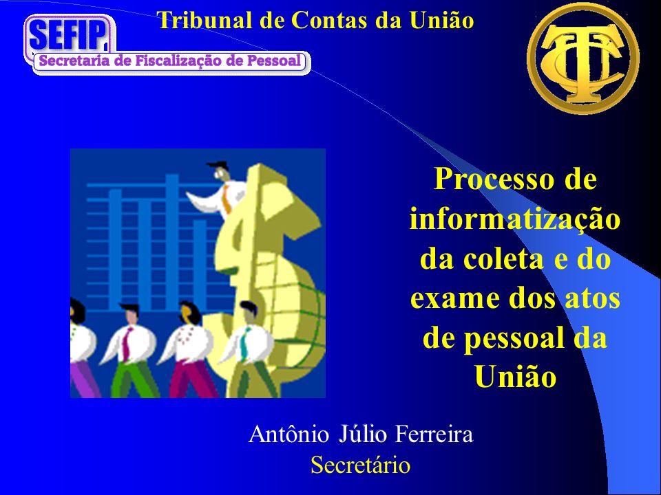 Tribunal de Contas da União Processo de informatização da coleta e do exame dos atos de pessoal da União