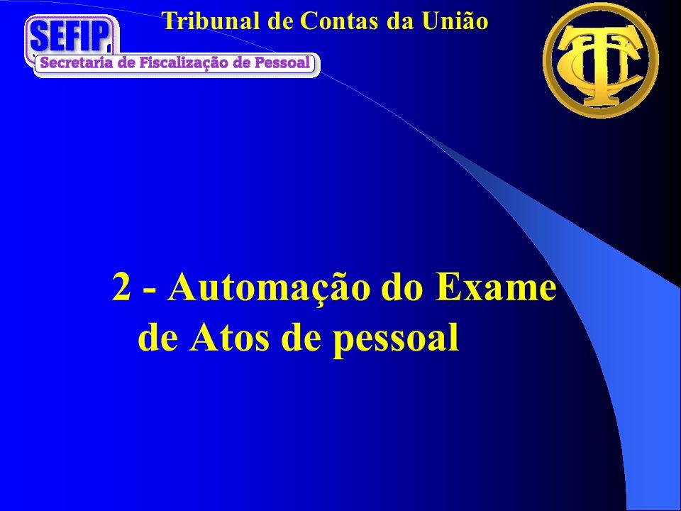 Tribunal de Contas da União 2 - Automação do Exame de Atos de pessoal