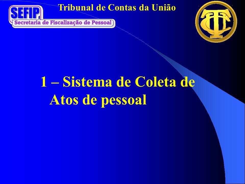 Tribunal de Contas da União 1 – Sistema de Coleta de Atos de pessoal