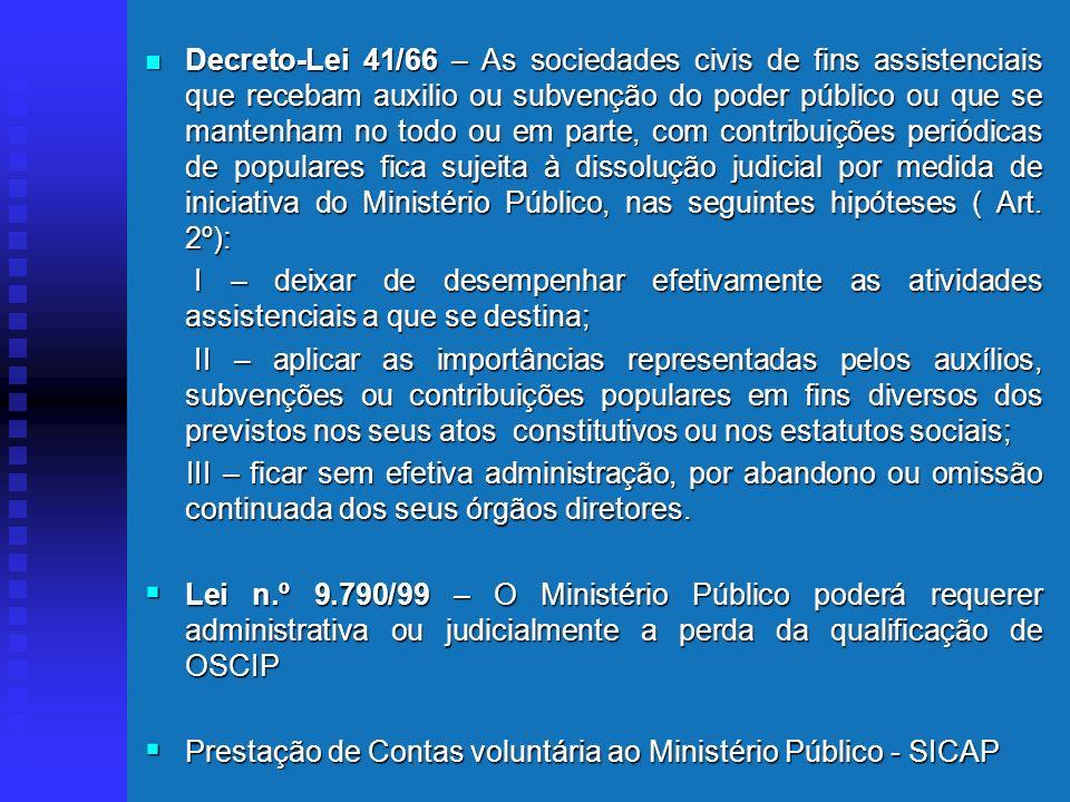 O Ministério Público e as Associações Atuação diferenciada das Fundações, intervenção em razão da matéria. Art. 5º, inc. XVII, XVIII, XIX, da CF: XVII