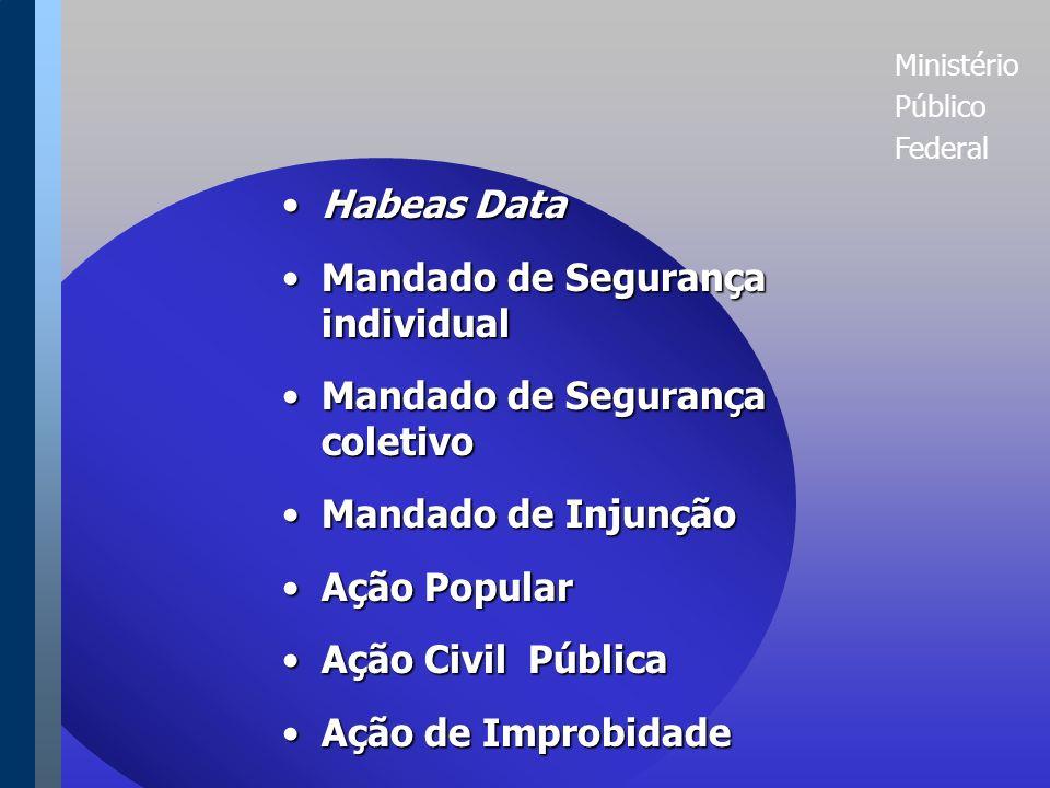 Ministério Público Federal INSTRUMENTOS JURISDICIONAIS DE DEFESA DA CIDADANIA NO BRASIL