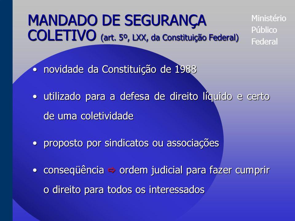 Ministério Público Federal MANDADO DE SEGURANÇA INDIVIDUAL (art.