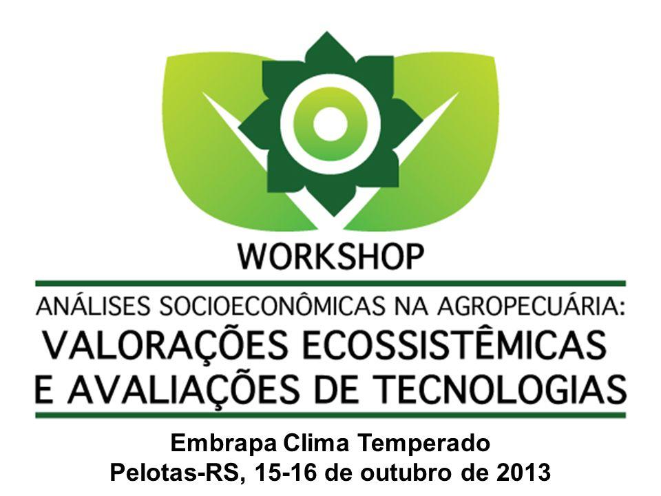 Metodologia de análise econômica com valoração de externalidades na agricultura pelo uso da MAP Ambiental Luiz Clovis Belarmino Embrapa Clima Temperado