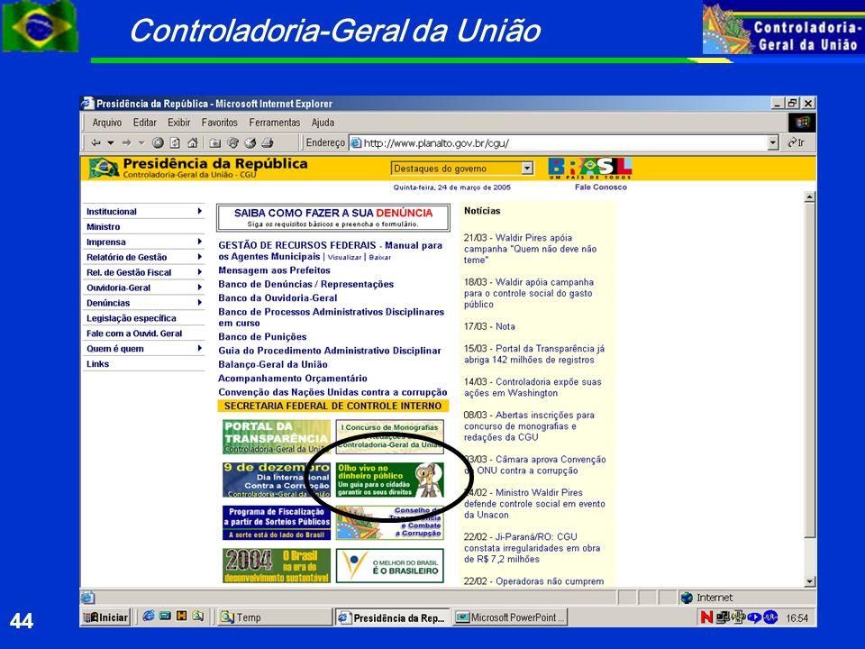 Controladoria-Geral da União 44