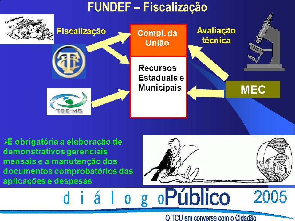 FUNDEF – Fiscalização Recursos Estaduais e Municipais Compl.