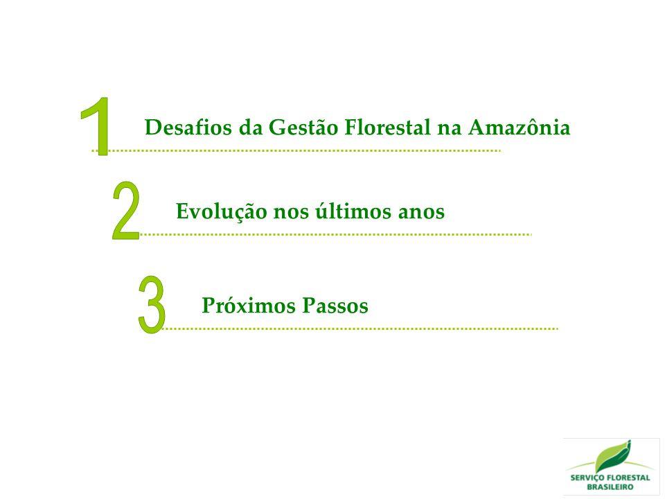 Desafios da Gestão Florestal na Amazônia Evolução nos últimos anos Próximos Passos