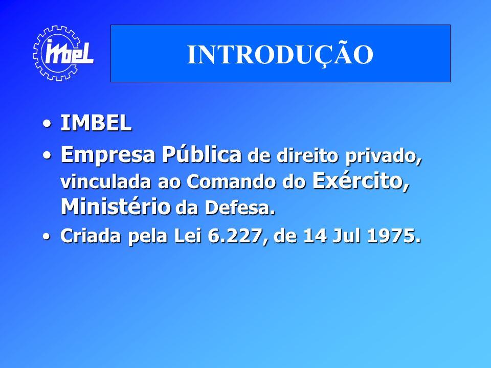 IMBELIMBEL Empresa Pública de direito privado, vinculada ao Comando do Exército, Ministério da Defesa.Empresa Pública de direito privado, vinculada ao