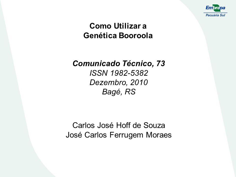 Como Utilizar a Genética Booroola Comunicado Técnico, 73 ISSN 1982-5382 Dezembro, 2010 Bagé, RS Carlos José Hoff de Souza José Carlos Ferrugem Moraes