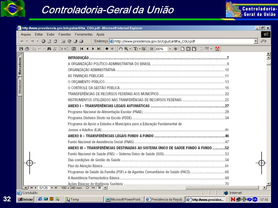 Controladoria-Geral da União 32