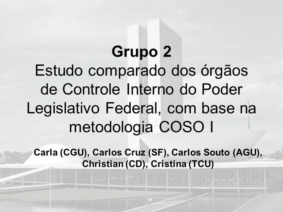 Grupo 2 Estudo comparado dos órgãos de Controle Interno do Poder Legislativo Federal, com base na metodologia COSO I Carla (CGU), Carlos Cruz (SF), Ca
