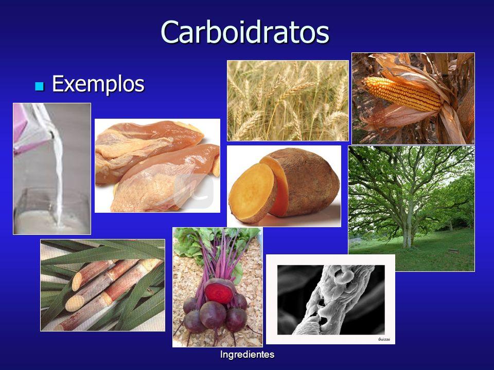 IngredientesCarboidratos Exemplos Exemplos
