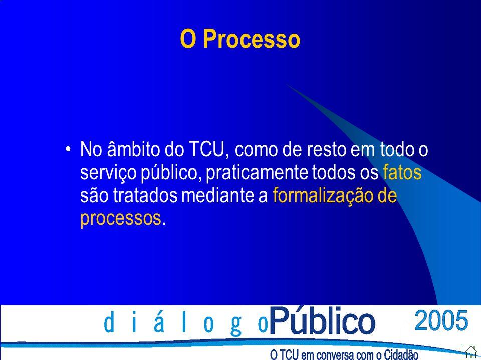 Legislação Legislação específica : Lei nº 8.443/1992 (Lei Orgânica do TCU ) Resolução nº 155/2002 (Regimento Interno do TCU) Aplicação subsidiária : Lei nº 9.784/99 (Processo na Adm.