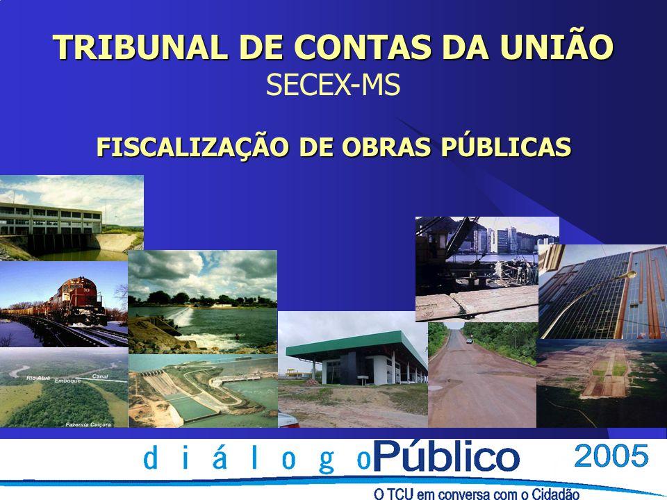 TRIBUNAL DE CONTAS DA UNIÃO SECEX-MS FISCALIZAÇÃO DE OBRAS PÚBLICAS
