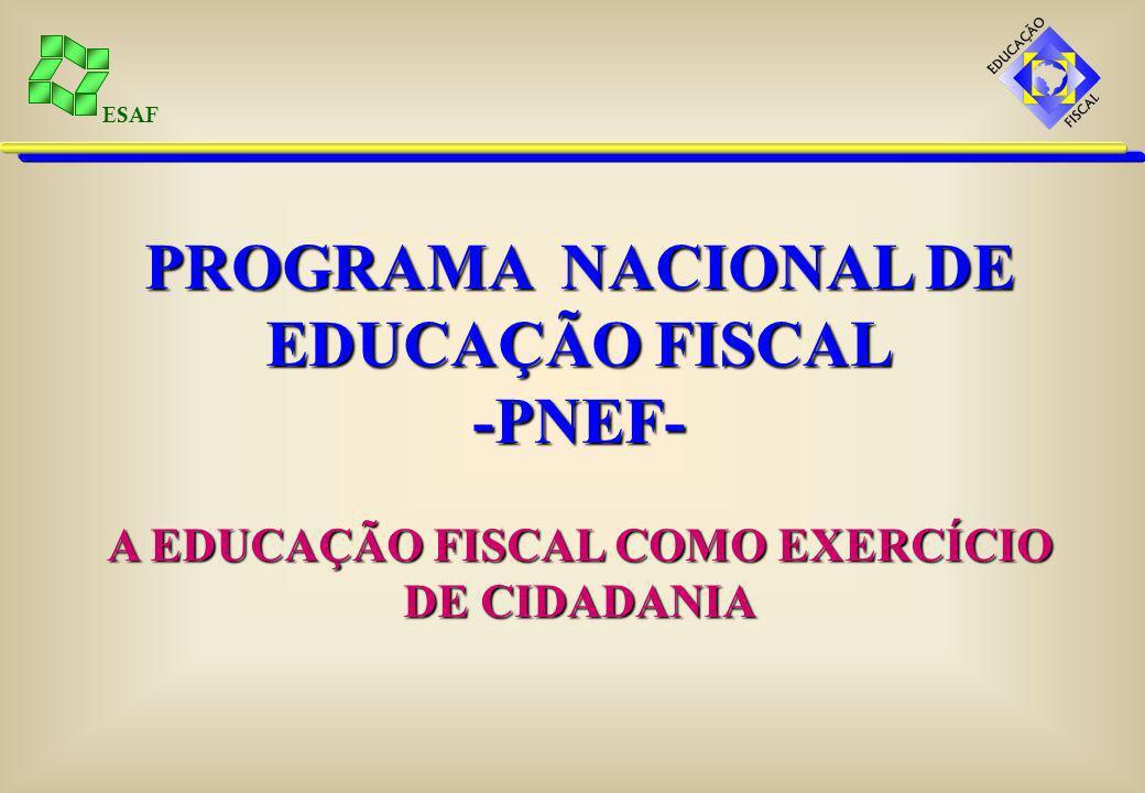 ESAF É requisito da cidadania a participação individual na definição da política fiscal e na elaboração das leis para sua execução.