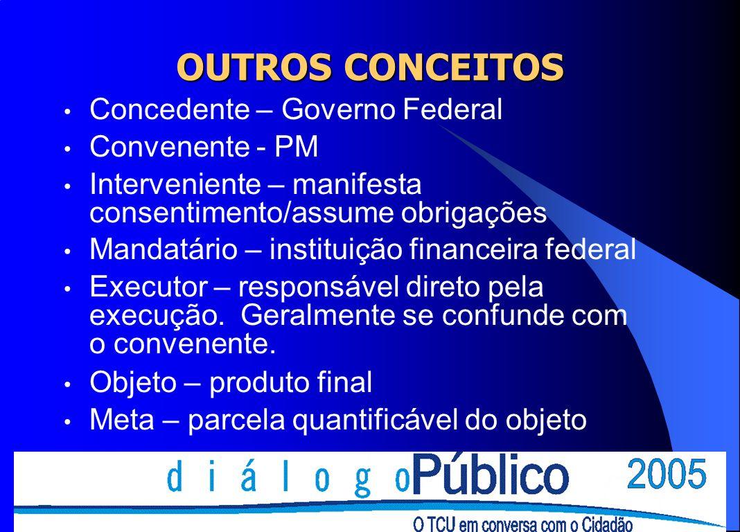 REGULAMENTAÇÃO Constituição Federal (vide EC 19/98) Lei Complementar nº 101/00 (LRF), Lei de Diretrizes Orçamentárias (LDO), Lei n.º 9.452/97 (comunicação de repasses a partidos, sindicatos, empresários - 2 dias), Lei nº 8.666/93 (vide art.