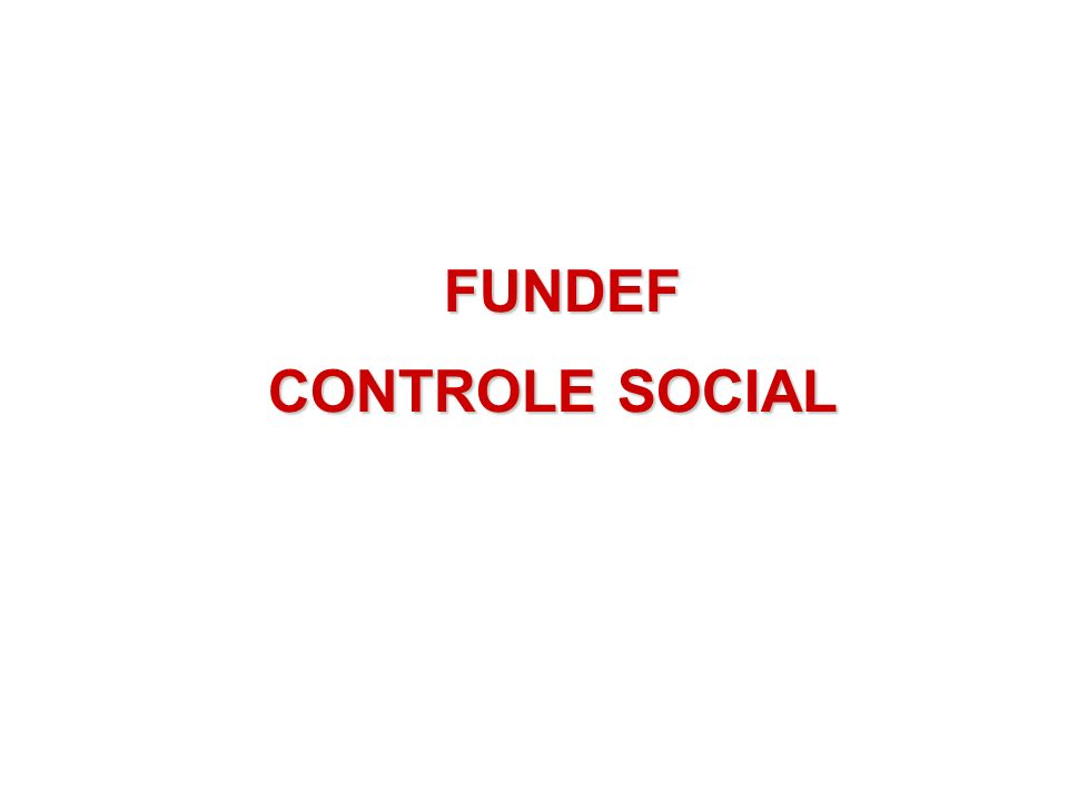 FUNDEF CONTROLE SOCIAL